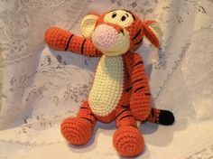PDF - Tigger - the Winnie the Pooh's friend - 11.2 inches / 28 cm amigurumi crocheted doll - Available in English or Spanish language. $5.50, via Etsy.