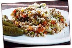 Zapečená pohanka se zeleninou a parmazánem