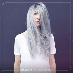 This silver magic was created using Wella 7/89, 8/81 with a touch of /68