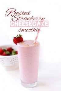 Roasted Strawberry Cheesecake Smoothie | Minimalist Baker