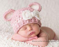 ff4272927d1 NEWBORN Baby Girl Hat 0 to 1 Months Baby Girl Flapper Hat