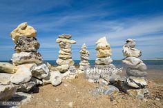 Stones Stacked on Beach, Klitmoller, North Jutland, Denmark... #klitmoller: Stones Stacked on Beach, Klitmoller, North… #klitmoller
