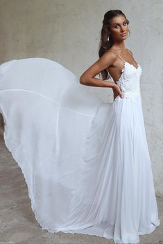 White Bridal Gowns 2018 Backless Chiffon Wedding Dresses Beach Wedding Dress | eBay