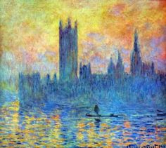 monet - london parliament in winter