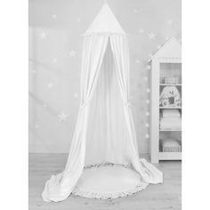 Sweet baby baldachin szett elegant (párna nélkül) - fehér Baby Dekor, Ruffle Pillow, Baby Nest, Hiding Places, Cot, Floor Mats, Hanging Chair, Bassinet, Decoration