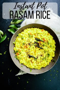 Instant Pot rasam rice is comfort in a bowl made in minutes, all in one-pot. Spicy tangy notes of rasam infused with rice is delicious with a side of potato fry. #InstantPot #InstantPotIndian #IndianRecipe #RasamRice #SouthIndianFood #vegetarian #vegan Sicilian Recipes, Indian Food Recipes, Ethnic Recipes, Kerala Recipes, Cooking Curry, Kerala Food, South Indian Food, Curry Recipes, Fried Potatoes