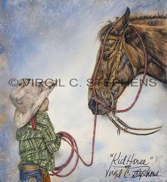 Kid Horse giclee print by Virgil C. Stephens Western Artist