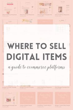 Ecommerce platforms or where to sell digital products ~ Elan Creative Co. Business Marketing, Content Marketing, Online Marketing, Digital Marketing, Media Marketing, Social Marketing, Business Advice, Business Planning, Online Business