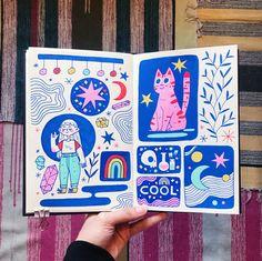 Kunstjournal Inspiration, Illustration Inspiration, Sketchbook Inspiration, Illustration Art, Medical Illustration, Art Illustrations, Posca Marker, Marker Art, Posca Art