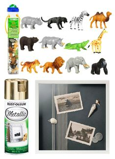 Project Nursery - DIY Safari Animal Shadow Box Supplies