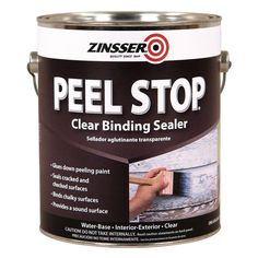 PEEL STOP® is a clear, binding primer,interior/exterior sealer. Strengthens peeling and chalky surface and promotes adhesion of old paint coatings. Low odor, easy-to-use sealer may be top-coated in 2 hours. Paint Primer, Paint Stain, Painting Tips, House Painting, Painting Techniques, Exterior Paint, Interior And Exterior, Paint Sealers, Stucco Walls