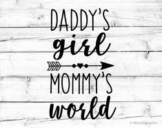 Daddy's Girl Mommy's World Svg Baby Girl Svg Onesie Svg Girl Preschool Svg Kindergarten Svg Princess Svg Kids Svg for Cricut Silhouette Png