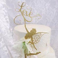 Love Fairy Cake Topper - Birthday Party - Baby Shower - Decorations - Fairie - Girl - Custom - Adult - Anniversary - Elegant - Fantasy