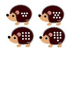 Autismus Arbeitsmaterial: Der Igel kann zählen - Vorlagen Free Handwriting Worksheets, 2. November, Elementary Art, Hedgehog, Art Projects, Printables, Education, Minden, Fun Ideas