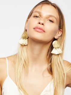 Serefina Lunar Rays Tassel Earrings at Free People Clothing Boutique