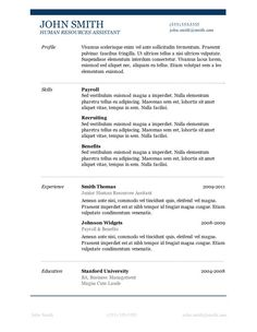 Best Free Resume Templates Word