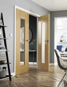 Over 200 designs of internal doors, including contemporary, oak interior doors or shaker style internal doors. Browse JB Kind's 2019 internal door range today! Living Room 2017, Home And Living, Living Spaces, White Internal Doors, White Doors, Double Doors, Oak Interior Doors, Oak Doors, Scandinavian Doors