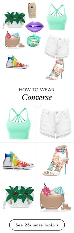"""Ready for summer"" by treelights29 on Polyvore featuring Kate Spade, LE3NO, Converse, Agent 18, Fiebiger, Ruby Rocks and Miss Selfridge"