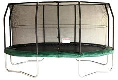 Jumpking OvalPOD 14ft x 17ft Oval-shaped Trampoline Set with Enclosure