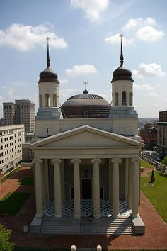 The Baltimore Basilica in Maryland is an American Classicism by architect Henry Latrobe in 1806-1821