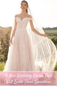 From ornate beading to romantic lace, these 15 new wedding gowns from Justin Alexander's Fall 2020 and Spring 2021 collections are everything we need and more. #justinalexander #lillianwest #adorejustinalexander #sinceritybridal #justinalexandersignature Future Daughter, Daughters, Justin Alexander Bridal, Sincerity Bridal, Lillian West, Romantic Lace, Illusion Neckline, A Line Gown, Mermaid Gown