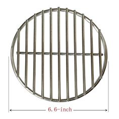 BBQ funland 304 Stainless Steel High Heat Charcoal Fire Grate for Large and Minimax Big Green Egg Grill (6.6-inches) >>> Check out the image by visiting the link.