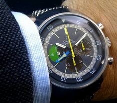 The Omega Flightmaster is a vintage hand wound chronograph made by Omega between 1969-1972.