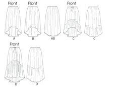 B5892 | Misses' Skirt | Skirts | Butterick Patterns