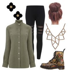 """""""Untitled #20"""" by mekaboo142 ❤ liked on Polyvore featuring moda, Dr. Martens, Tory Burch, Frame Denim y Chicnova Fashion"""