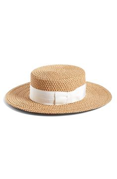 e18927d9 Women's Eric Javits 'Gondolier' Boater Hat - Beige Fashion Styles, 50  Fashion,