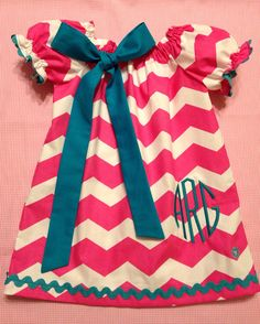 Infants/Toddlers/Girls Easter Chevron Peasant by DitsyDaisyDoo, $30.00