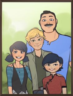 yaushie: at some point in this series adrien better end up in a framed photo with marinette and her family or so help me god