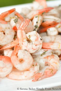 Lemon Herb Shrimp are easy to make. A great appetizer or main course…