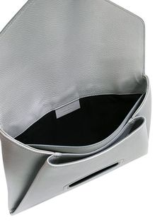 GIVENCHY Antigona Envelope Leather Clutch in Grigio