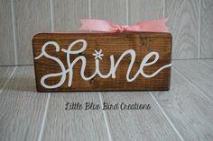 SALE  ready to ship   shine wood block  by littlebluebirdcreate