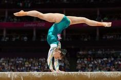 Georgia Bonora of Australia competes on the beam in the Artistic Gymnastics Women's Team qualification on Day 2 of the London 2012 Olympic Games at North Greenwich Arena on July 29, 2012 in London, England.