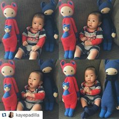 #Repost @kayepadilla with @repostapp  Kobe's new playmates have arrived from the Philippines! Thank you so much @hookedonyarns! Kobe loves them!  For inquiries about made to order dolls please Text/Viber 09178859511.  Thank you for your support for handmade dolls!  #lalylala #handmadedoll #crochetdoll #amigurumi #kirakangaroo #handmade #handmadeph #crochet #crochetph #crochetaddict #gantsilyo #gantsilyoph #gantsilyoaddict #yarns #yarnsph #yarnaddict #custommade by hookedonyarns