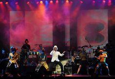 Netinho em 29 de julho de 2011 no palco do seu show no Festival Latino Americano, em Milão, Itália.