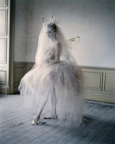 IMOGEN MORRIS-CLARKE AS WINGED SPRITE,  HOWICK HALL, NORTHUMBERLAND, UK, 2010  ITALIAN VOGUE
