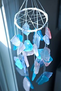sea glass dream-catcher? wind chime?