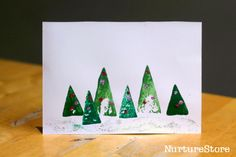 preschool christmas card crafts | More Christmas activities for kids