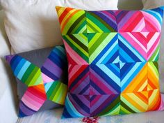 solid color string quilt