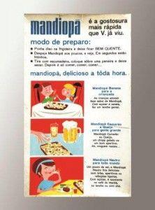 Mandiopã embalagem tradicional antiga década de 1970 (verso)
