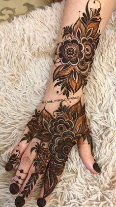 Modern Henna Designs, Floral Henna Designs, Full Hand Mehndi Designs, Simple Arabic Mehndi Designs, Henna Art Designs, Mehndi Designs For Girls, Mehndi Designs For Beginners, Stylish Mehndi Designs, Mehndi Designs For Fingers