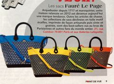 New design by Faure le Page, seen in Point de Vue N3454.