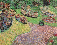 """""""Jardín en Auvers"""", óleo sobre lienzo, 64,0 x 80,0 cm, junio-julio de 1890.   Colección Pierre Verne y Edith Vernes-Karaoglan, París, Francia."""