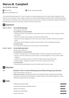 Download Social Media Specialist Resume Pics Social Media Marketing Manager, Marketing Resume, Marketing Jobs, Resume Skills List, Resume Tips, Resume Writing, Writing Tips, Unique Resume, Job Resume Examples