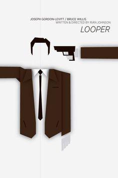 Looper (2012) - Minimal Movie Poster by Ojasvi Mohanty #minimalmovieposters #alternativemovieposters #OjasviMohanty #looperminimal