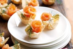 These smoked salmon tartlets make clever party pieces for even the most demanding crowd http://www.taste.com.au/recipes/27974/smoked+salmon+tartlets