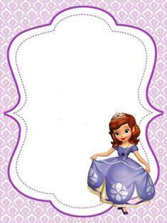 Free Printable Disney Borders And Frames ⋆ بالعربي نتعلم Princess Sofia Invitations, Princess Sofia Birthday, Sofia The First Birthday Party, 4th Birthday, Birthday Invitations, Birthday Cards, Princes Sofia, Disney Frames, Tangled Party